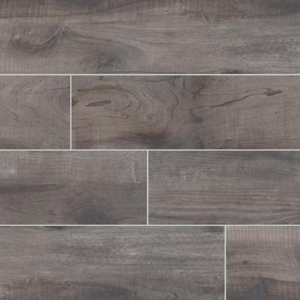 Country River Mist 6 in. x 36 in. Matte Porcelain Floor and Wall Tile (13.5 sq. ft. / case)
