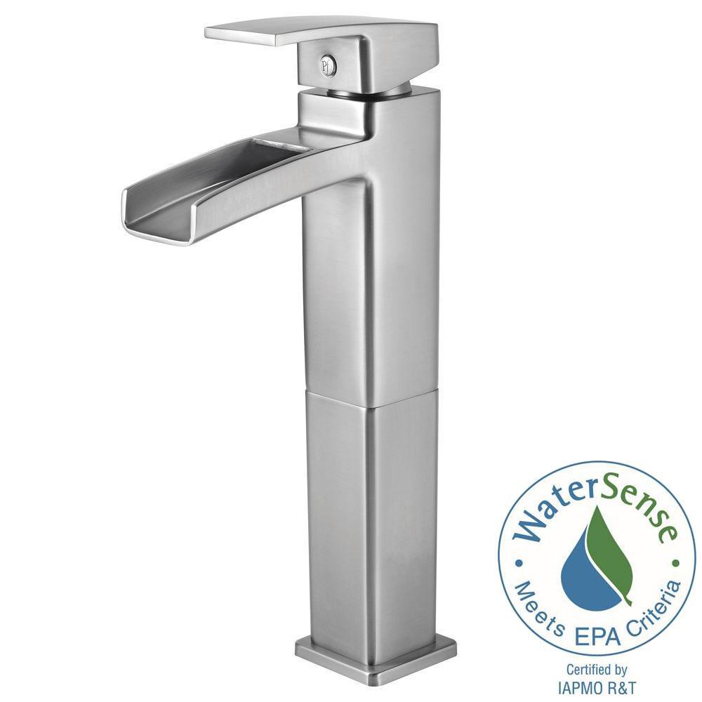 Kenzo Single Hole Single-Handle Vessel Bathroom Faucet in Brushed Nickel