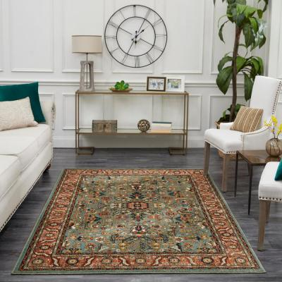 Mariah Aquamarine 8 ft. x 10 ft. Area Rug