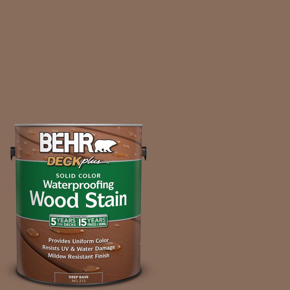 1 gal. #N190-6 Nut Brown Solid Color Waterproofing Wood Stain