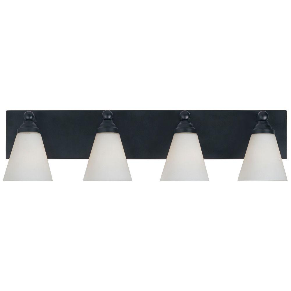 Designers Fountain Franklin Collection 4 Light Wall Mounted Oil Rubbed Bronze Vanity-DISCONTINUED