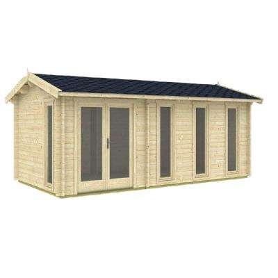 Nice 237 in. x 118 in. x 104 in. Log Garden House Hobby Recreation Office Storage Building