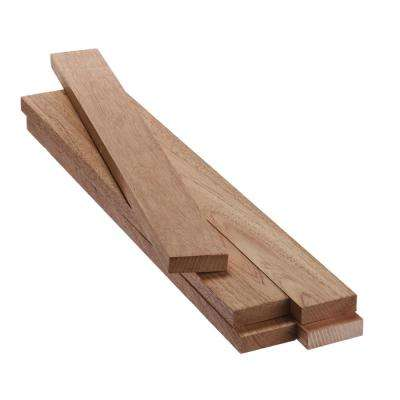 1 in. x 3 in. x 2 ft. FAS Mahogany S4S Board (5-Pack)