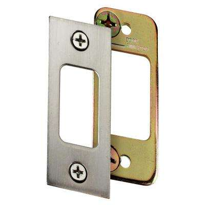 2-3/4 in. Satin Nickel Deadbolt Strike