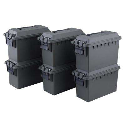 0.30 Cal. Tactical Ammo Storage Boxes in OD Green (6-Pack)