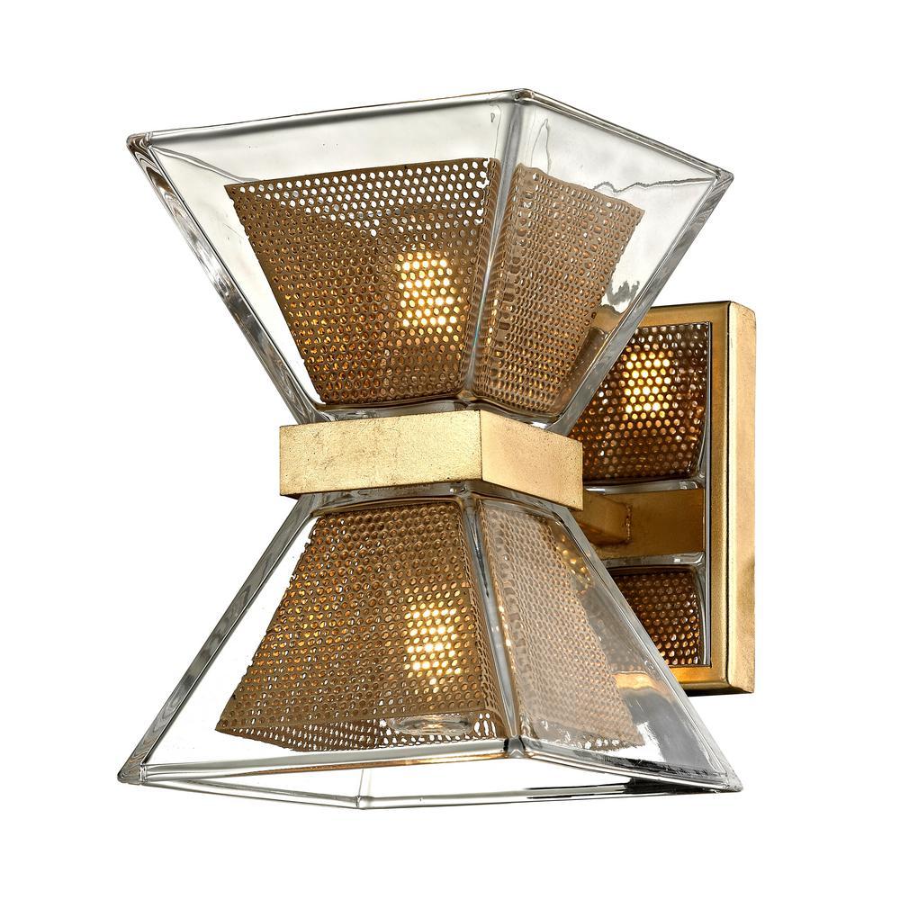 Troy Lighting Expression 2-Light Gold Leaf 5.25 in. W LED Bath Light ...
