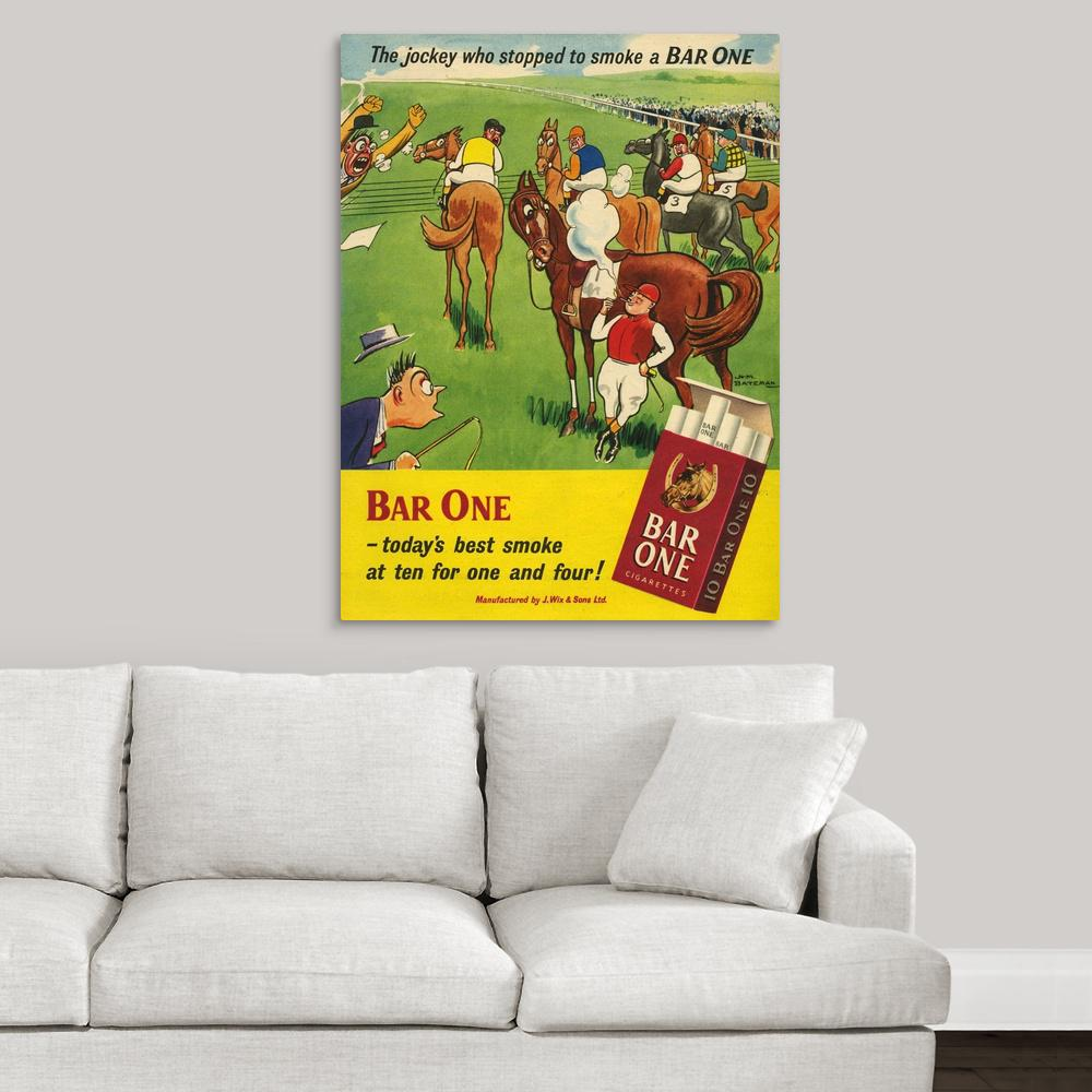 """Bar One Cigarettes"" by Great BIG Canvas Canvas Wall Art"