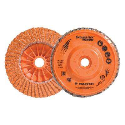 ENDURO-FLEX Turbo 4.5 in. x 5/8-11 in. Arbor GR36/60 Blending Flap Disc (10-Pack)
