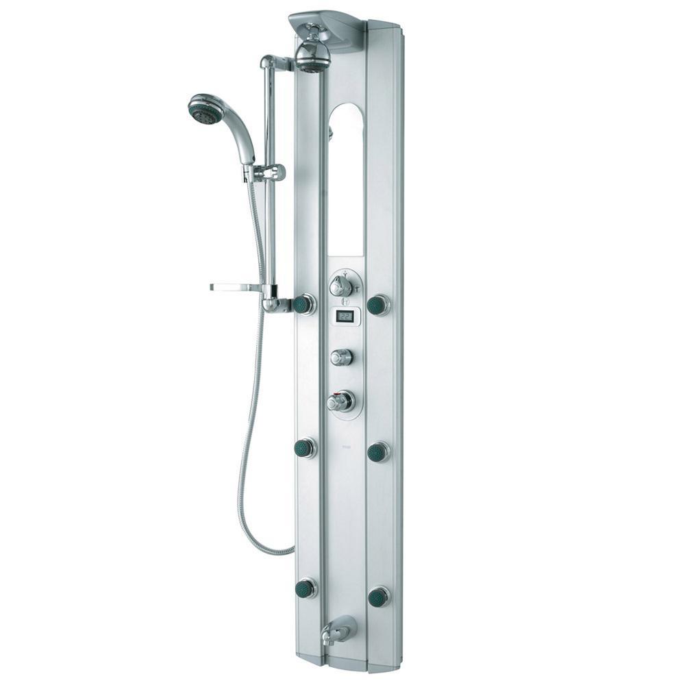 VIGO Satin 6-Jet Shower Panel System in Stainless Steel (Valve ...