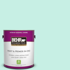 1 gal. #P430-1 Summer House Eggshell Enamel Zero VOC Interior Paint and Primer in One