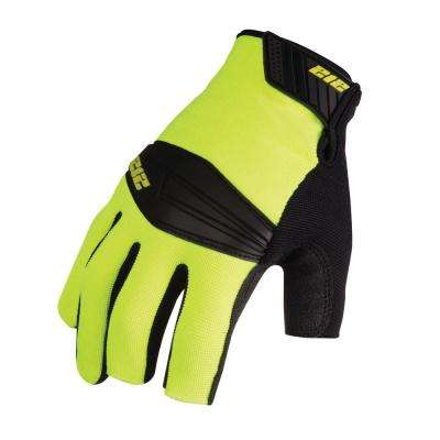 Super Hi-Vis Lineman-Cut Work Safety Gloves, Red/Yellow