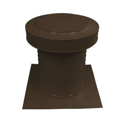 10 in. Dia Keepa Vent an Aluminum Static Roof Vent for Flat Roofs in Brown