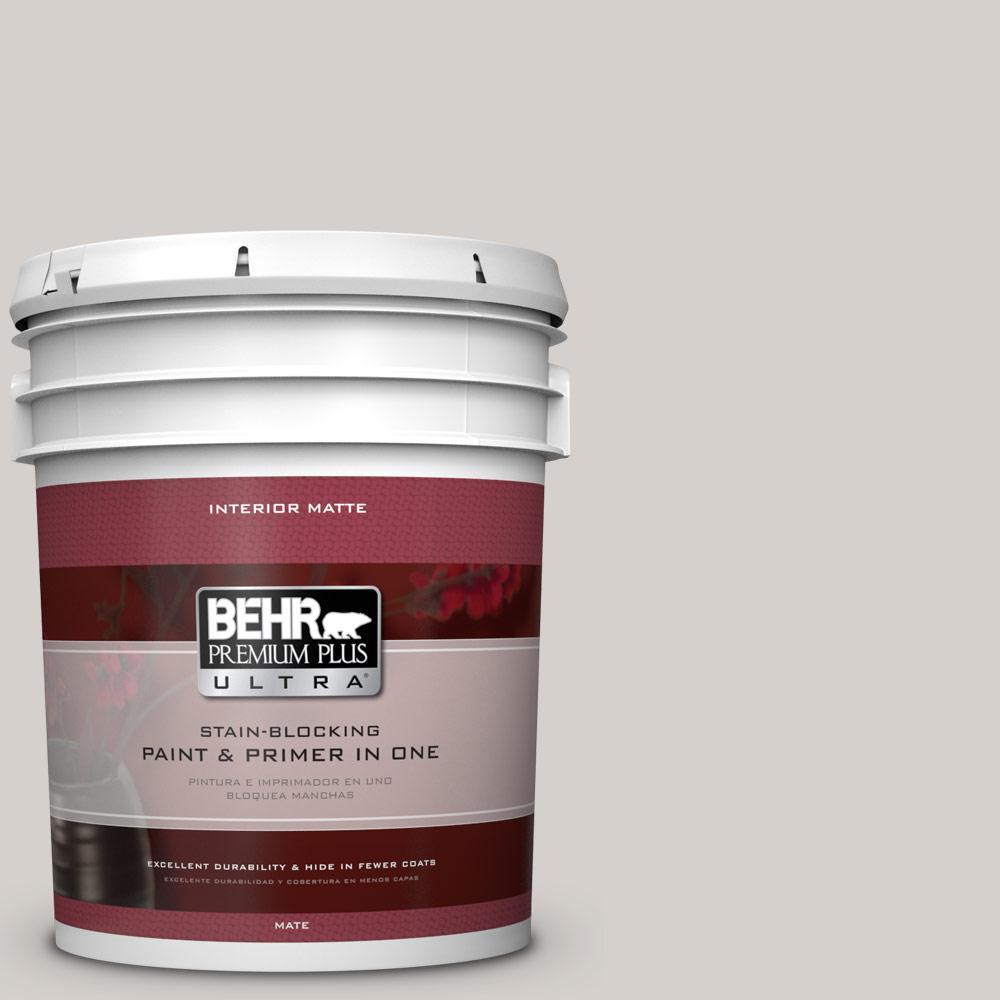 Behr Premium Plus Ultra 5 Gal N140 1 White City Matte Interior Sq Chunky Bar 100 Gr Paint
