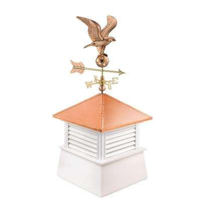 Manchester 26 in. x 26 in. x 56 in. Vinyl Cupola with Cottage Eagle
