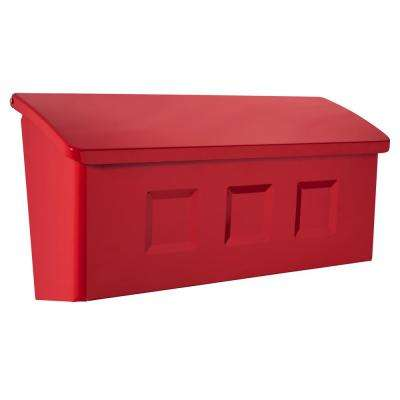 Wayland Red Wall Mount Mailbox
