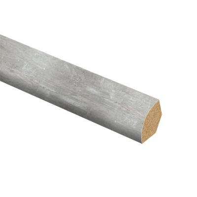 Scratch Stone 5/8 in. Thick x 3/4 in. Wide x 94 in. Length Vinyl Overlay Quarter Round Molding