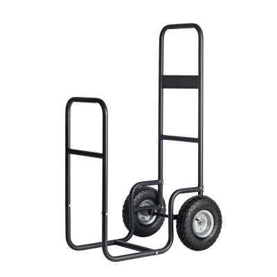 2 ft. D x 3 ft. H x 2 ft. W Haul-it Multi-Purpose Steel Firewood Cart with Slim-Fit Design and Easy-Pivot Tires