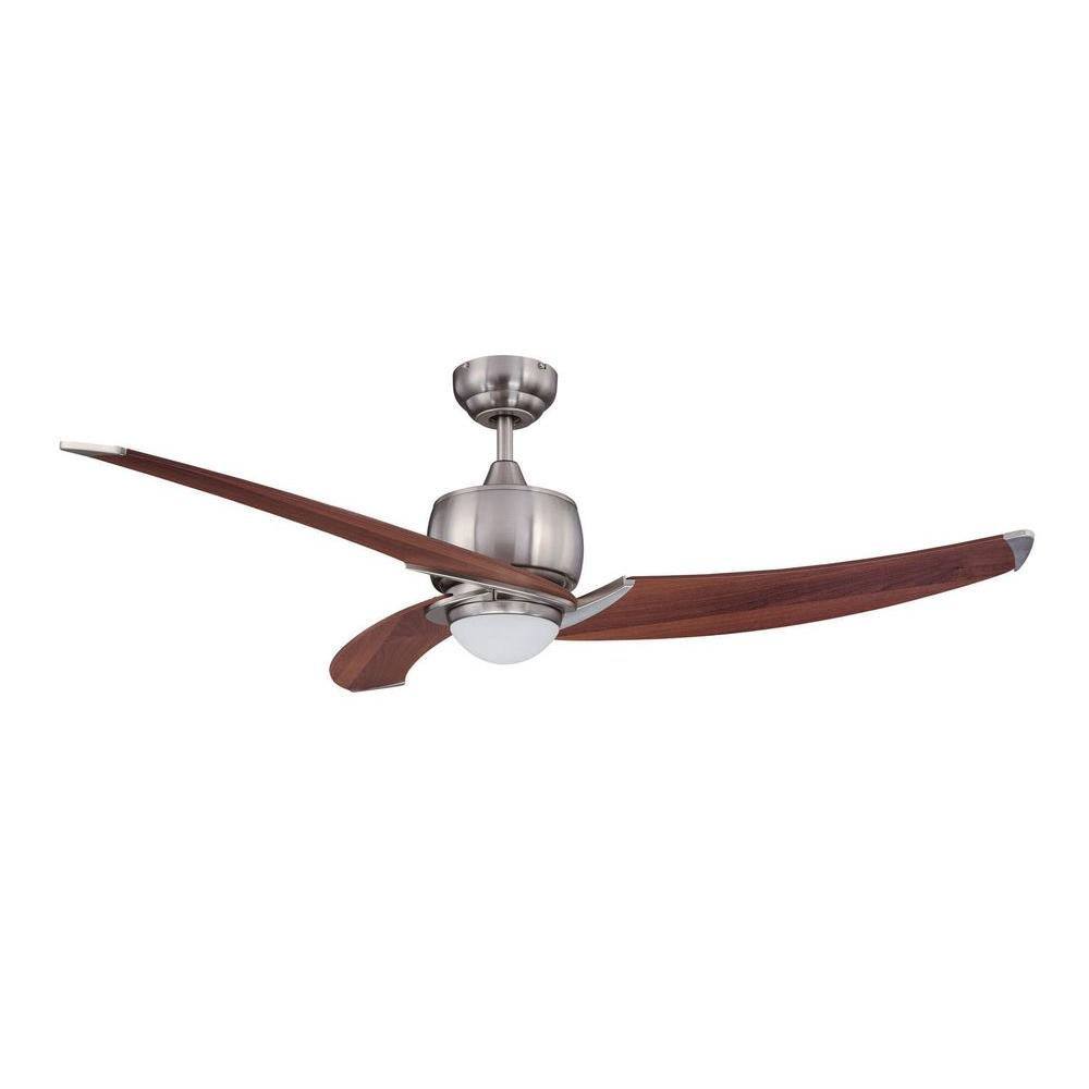 Cassiopeia 52 in. Satin Nickel Indoor Ceiling Fan