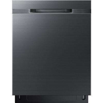 24 in. Top Control Dishwasher in Black Stainless with Stainless Steel Tub and AutoRelease Door for Faster Drying
