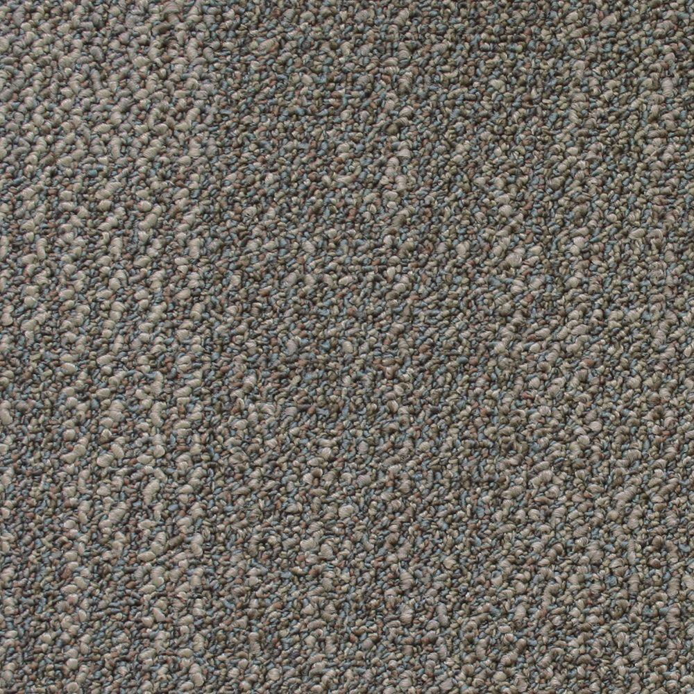 Liberty color Rustic Taupe Loop 19.7 in. x 19.7 in. Carpet