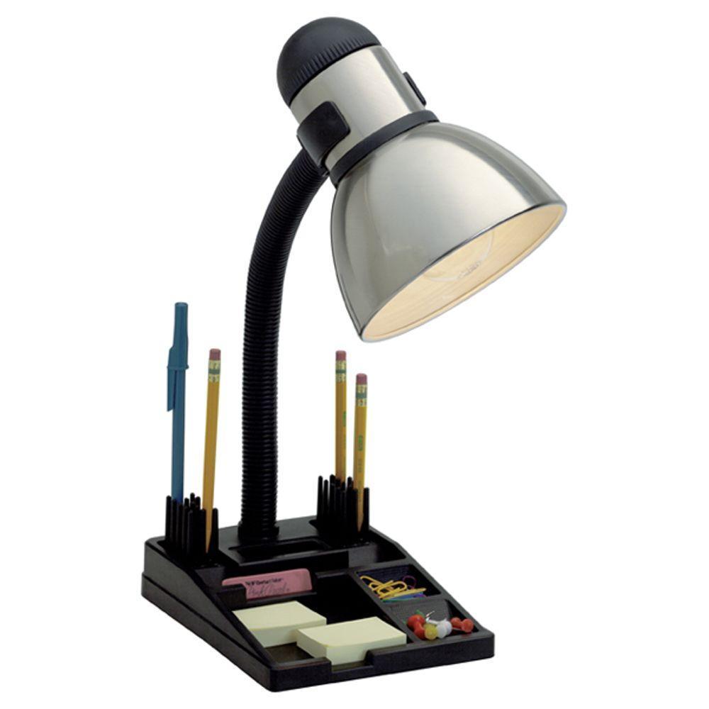 Filament Design Karl 20 in. Black and Steel Desk Lamp
