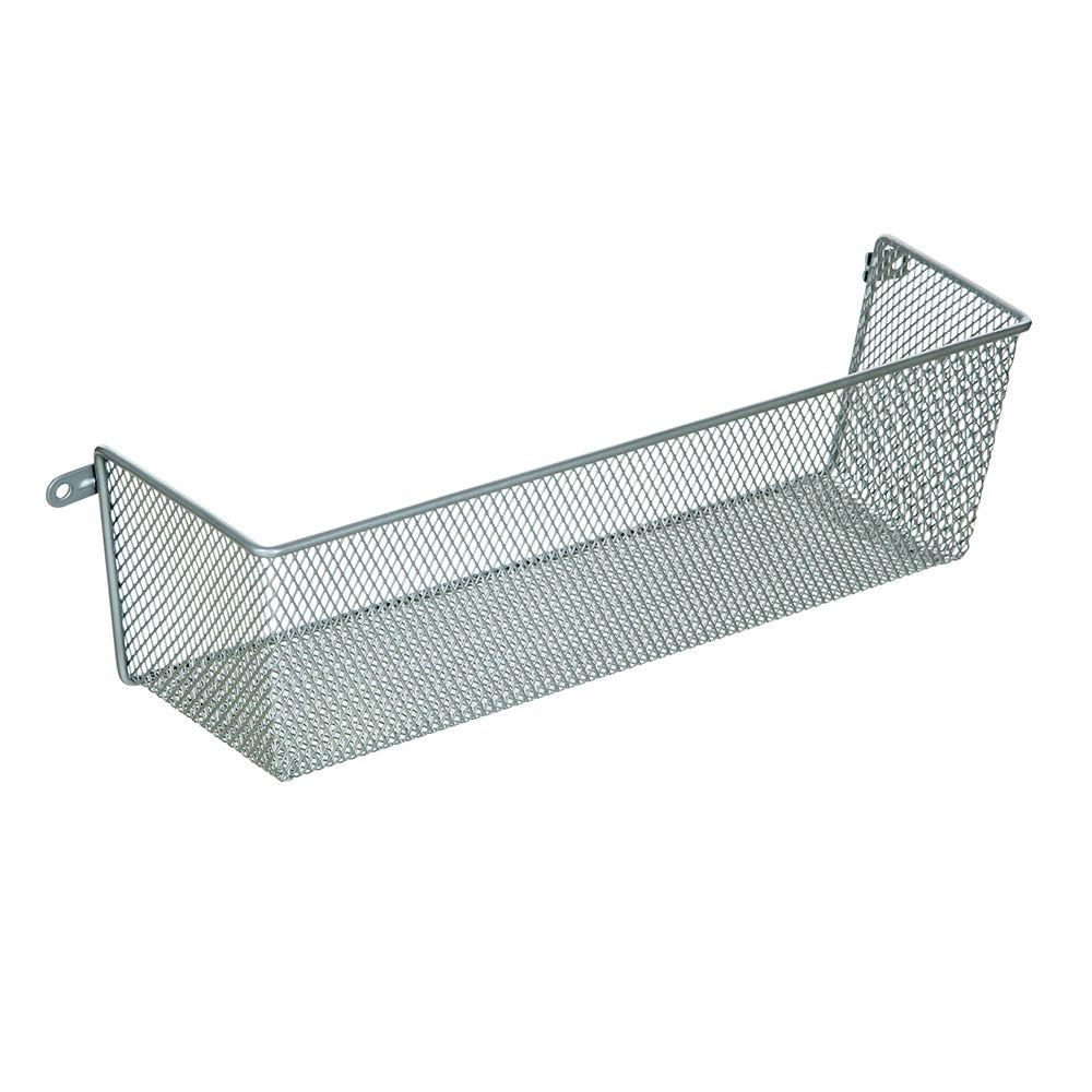 Ltl Home Products More Inside Medium 3 Sided Wall Mount Mesh Basket W8 19342 The Home Depot