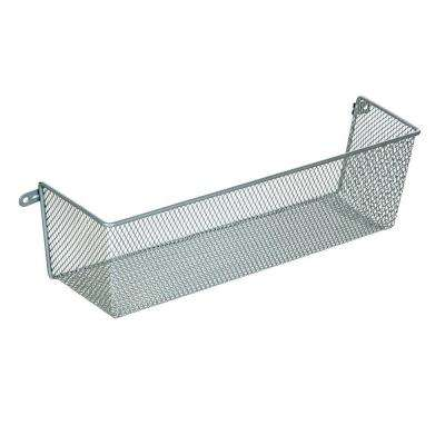 14 in. x 4 in. More Inside Medium 3 Sided Wall Mount Mesh Basket