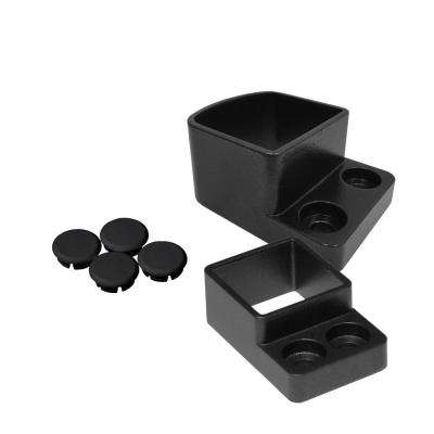 Straight Wall Mount Attach Kit - Black