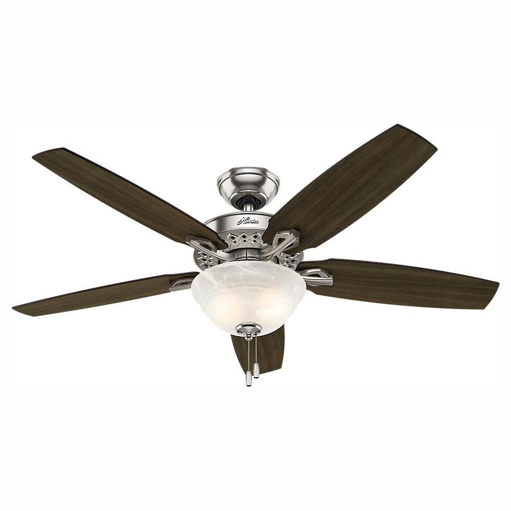 Hunter Builder Low Profile 42 in. Indoor Brushed Nickel Ceiling Fan on