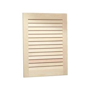 Louvered 16 in. W x 22 in. H x 5-1/4 in. D Frameless ...