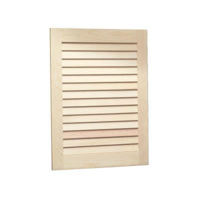 Louvered 16 in. W x 22 in. H x 5-1/4 in. D Frameless Recessed Bathroom Cabinet with Unfinished Pine Door