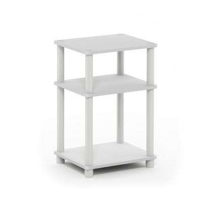 Just White and Espresso End Table
