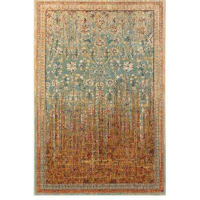 Wanderlust Reuss Aquamarine 8 ft. x 11 ft. Area Rug
