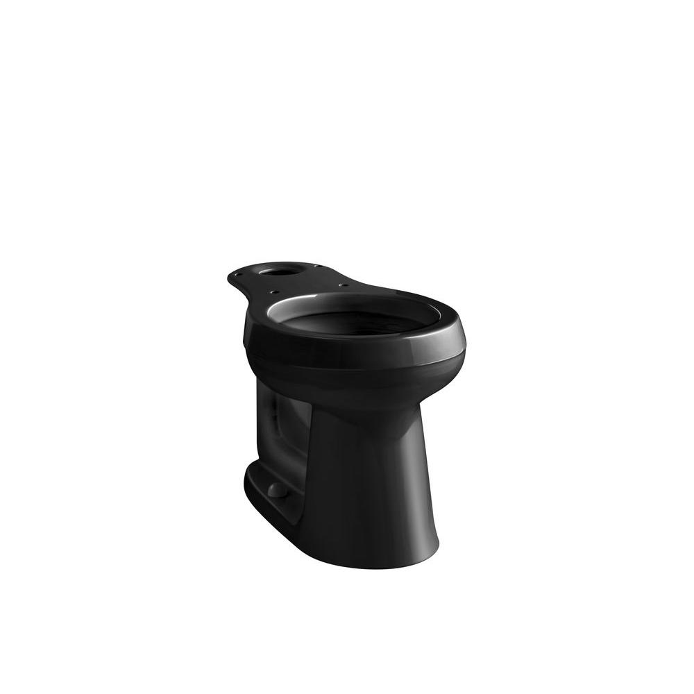 c5d27741af KOHLER Cimarron Comfort Height Round Toilet Bowl Only in Black Black ...