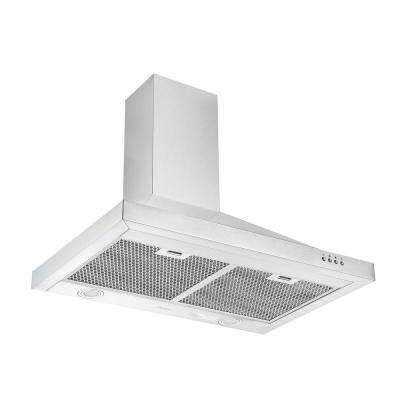 WPRV430 30 in. 420 CFM Convertible Wall Mount Pyramid Range Hood with LED in Stainless Steel