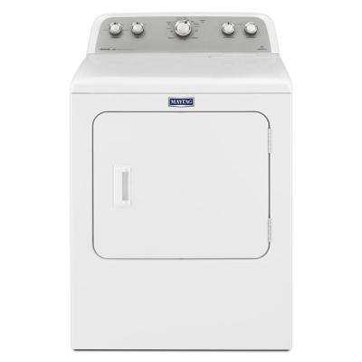 7.0 cu. ft. 240 Volt White Electric Vented Dryer with Sanitize Cycle