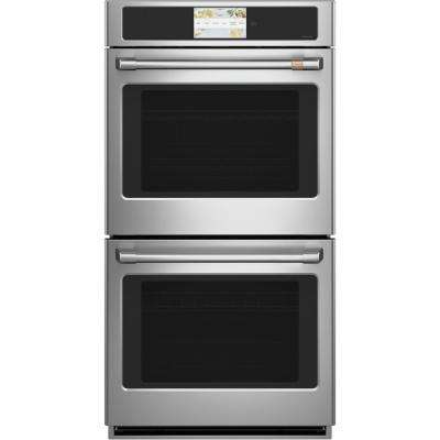 27 in. Smart Double Electric Wall Oven with Self-Cleaning and Convection Upper Oven in Stainless Steel