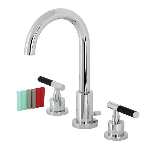 Kaiser 8 in. Widespread 2-Handle Bathroom Faucet in Polished Chrome