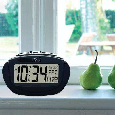 Insta-Set 3.93 in. x 2.36 in. Digital LCD with Calendar Alarm Table Clock