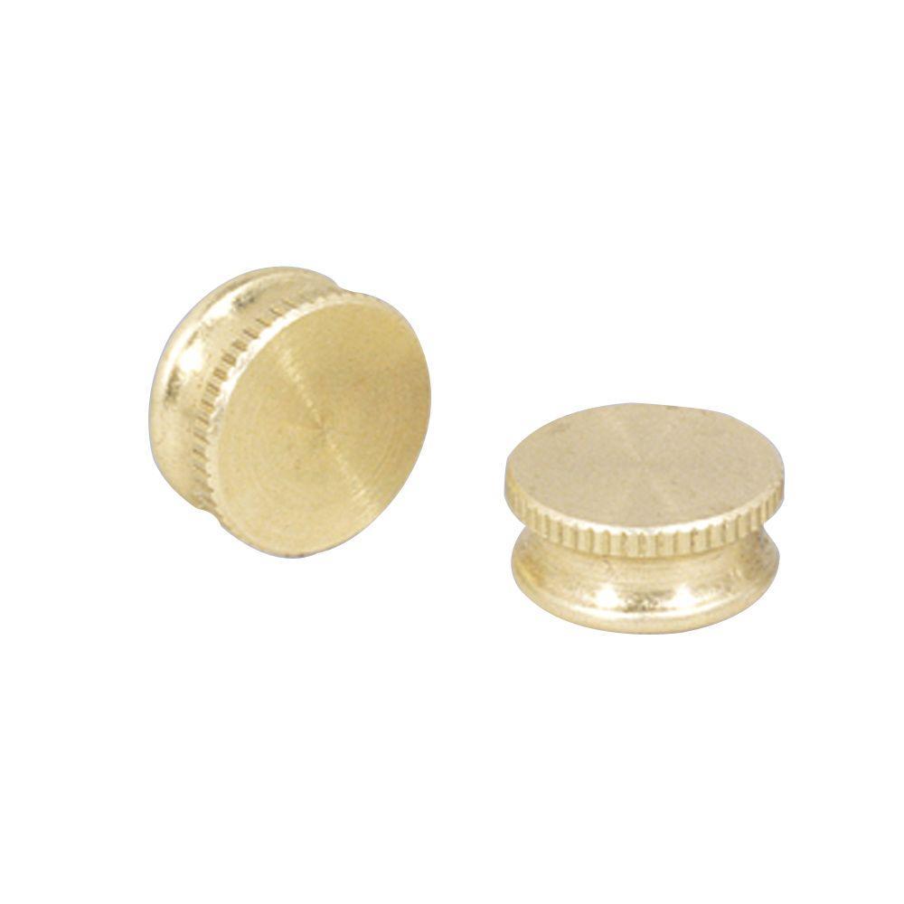 9/16 in. Brass Plate Lock-Up Caps