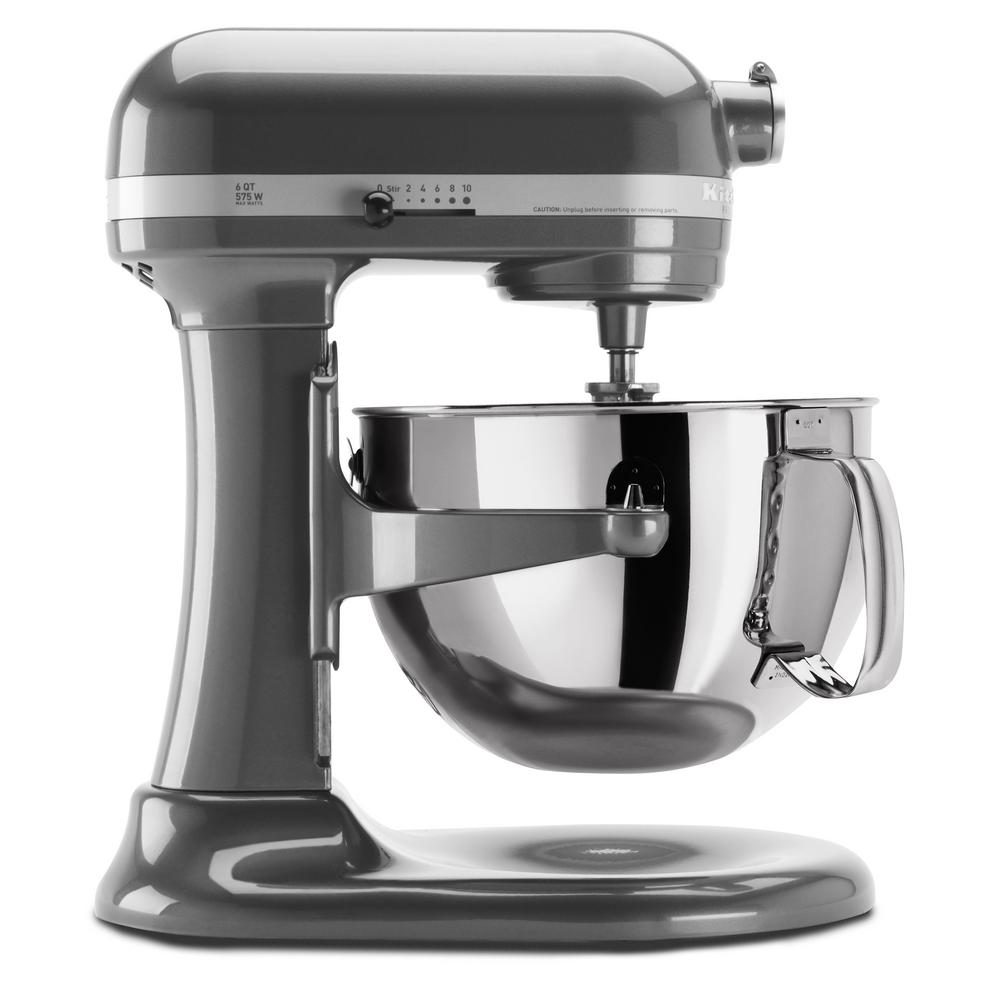 Professional 600 Series 6 Qt. 10-Speed Pearl Metallic Stand Mixer with Flat Beater, Wire Whip and Dough Hook Attachments