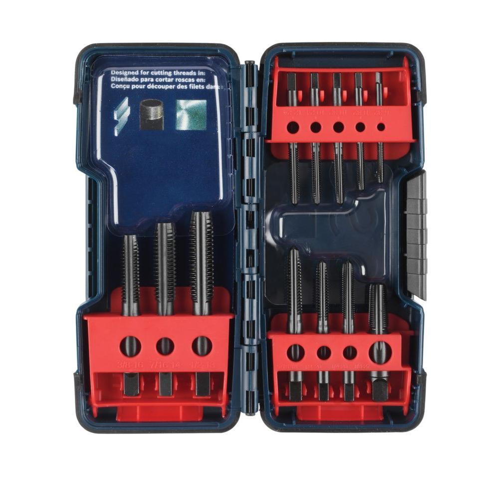Black Oxide Plug Tap Set (12-Piece)