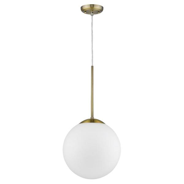 Solea 2-Light Antique Brass Pendant