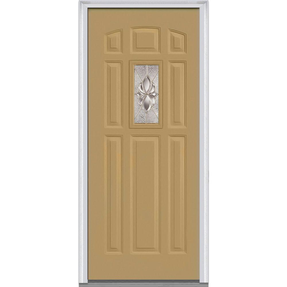 Mmi door 36 in x 80 in heirloom master right hand 1 lite for 8 lite exterior door