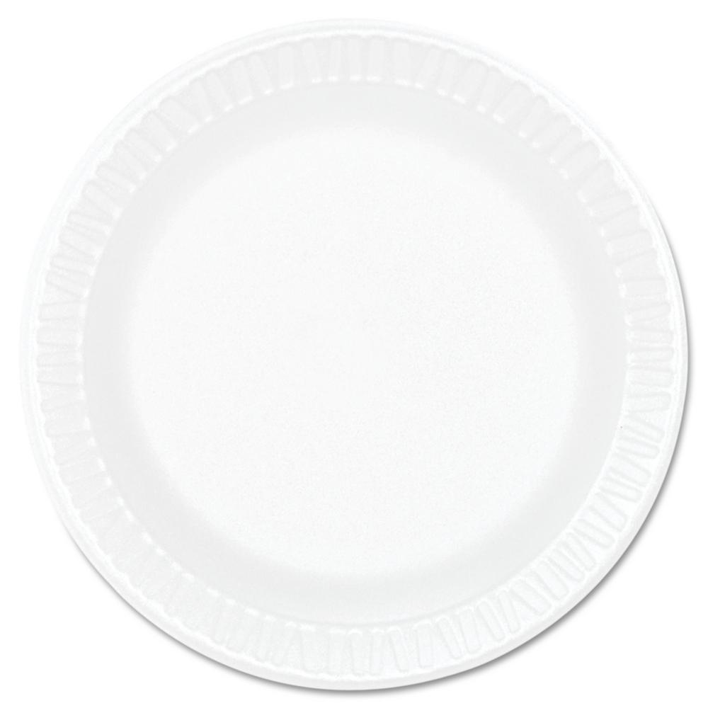 Concorde Non-Laminated Foam Plastic Plates, 6 in., White, 1000 Per Case