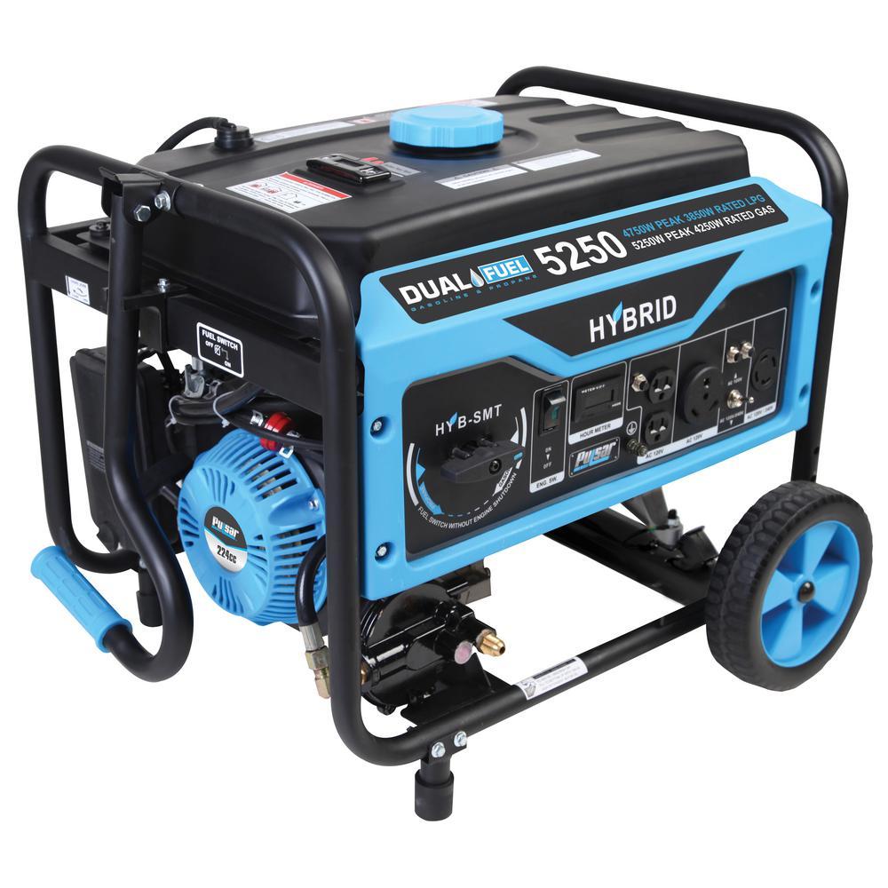 PULSAR 4,250/3,850-Watt Dual Fuel Gasoline/LPG Powered Po...