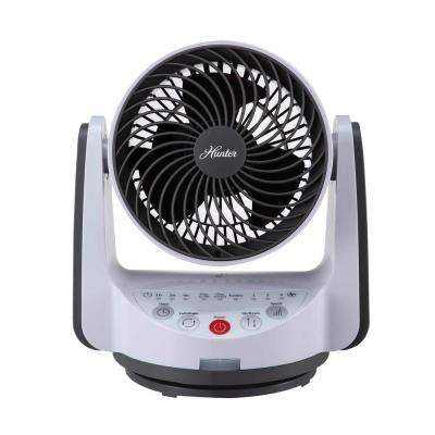 6 in. Oscillating Whole Room Fan in White
