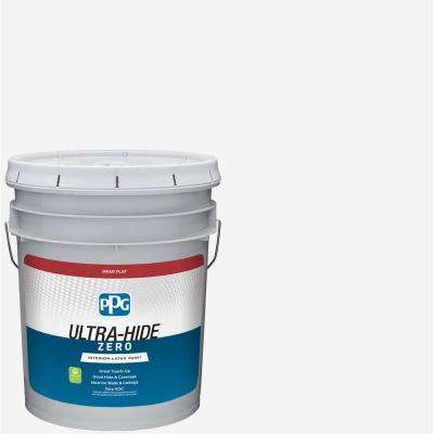 Ultra-Hide Zero 5 gal. Pure White/Base 1 Dead Flat Interior Paint