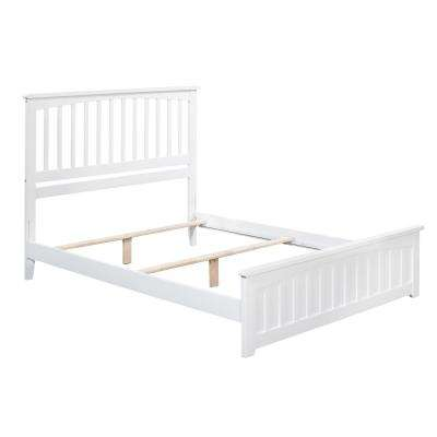 Mission White Full Traditional Bed with Matching Foot Board