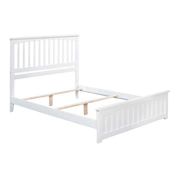 Atlantic Furniture Madison White Twin Xl Traditional Bed